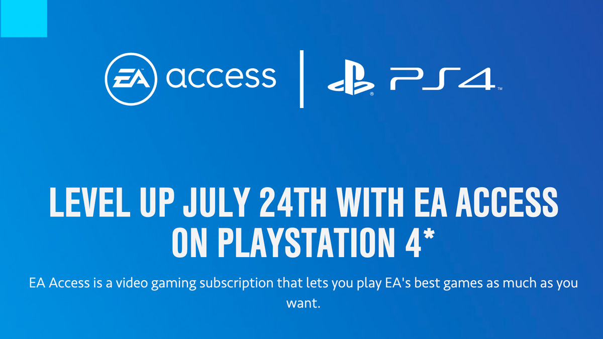 EA Access for PS4 Release Date Confirmed